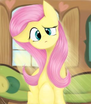 Fluttershy is confused by LCpegasister75