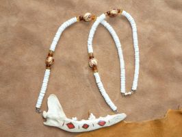 Fox jaw necklace by lupagreenwolf
