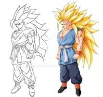 New concept of super saiyan 4 by Gothax