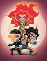 X-Men Chibi by EricGuzman