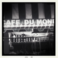 Cafe at Night by mademoisellemelli