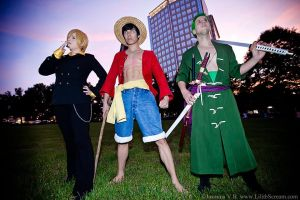 One Piece Monster Trio (Timeskip) - AWA 2013 by kiokukaiba