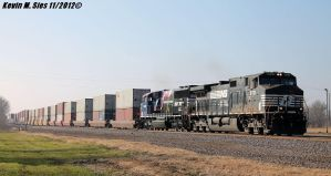 BNSF Q-FTMNSA3-21A stack train w/ Veterans Unit by EternalFlame1891