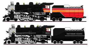 Southern Pacific 4-4-2 by o484