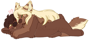Cuddles - Old art upload / COMM - by CrownedVictory