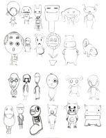 traditional : Character Design Sheet 5 2010 by darshan2good