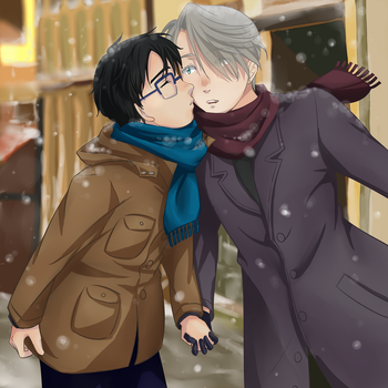 Yuri!!! on ice - Christmas date by Kherohi