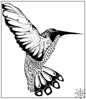 Pen and Ink - Humming Bird by 8-points