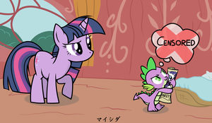 Dirty Mind Spike and Twilight by Maishida