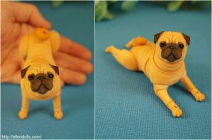 Pug Bjd Doll Dog 03 by leo3dmodels