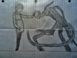 fist palm to the slender by SmokeyDan13