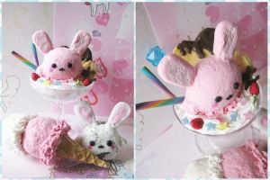 Marshmallow Bunny Sweets by KeoDear