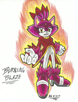 *SONIC OC*:  Burning Blaze by Armpit-Warrior