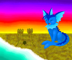 Vaporeon's happiness by silverlionwolf