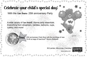 Care Bears Party Newspaper Ad by Sombraluz-Images