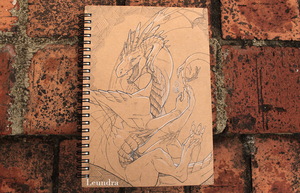 Sketchbook cover by Leundra