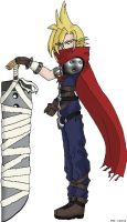 Kingdom Hearts Cloud Standing by rydiahighwind