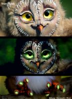 Owl - Guard of the tree by Flicker-Dolls