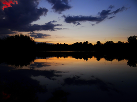 Sunset by the pond -8- by IoannisCleary