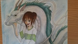 Spirited away: Chihiro and Haku by tinaditte