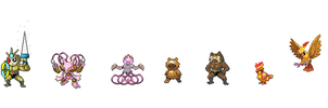 All pokemon sprites by PichuPower12