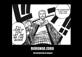 Roronoa Zoro BADASS by BW-Sticks