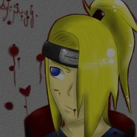 Bloooood - Deidara by Suyy