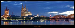 cologne skyline pano by oetzy