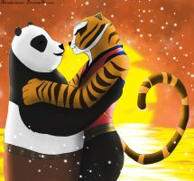 Po and Tigress-PS 2 by AlonDarsSister