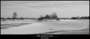 Frozen river and snow by simoner