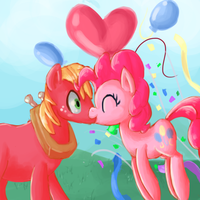 RQ:Big Mac + Pinkie Pie by Paintrolleire