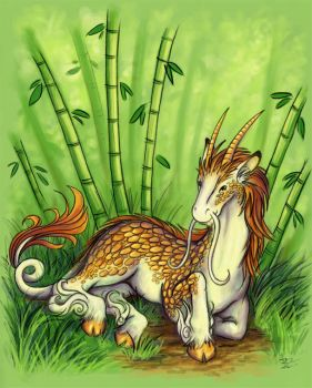 Kirin Contemplation by SpaceTurtleStudios