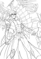 [Lineart] Kaiba And BECMD by Ycajal