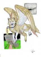winged wolf by itsmar