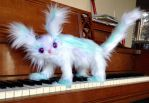 Available - OOAK Posable Frost Creature Cat by HoneyCricket