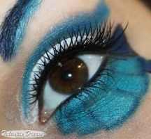 Sailor Neptun inspired make up by Talasia85