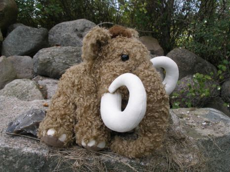 Nelly the Woolly Mammoth Plush by demiveemon