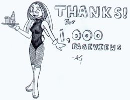 Thanks for 1,000 Pageviews by PhantomClark