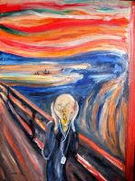 The Scream With i-Pod by theancientofdays