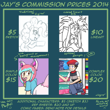 Commission Pricing by JayManney4Life