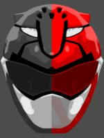Vector Helmet: Red GO BUSTERS layers by maddaluther