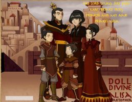 Fire Lord Zuko's Family by KendraKickz0220