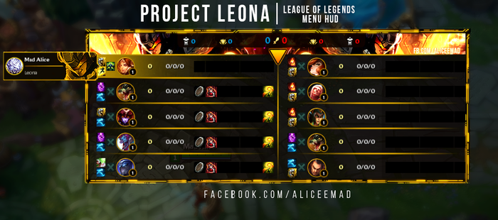 League of Legends Menu HUD - Project Leona by AliceeMad