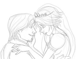 Tangled Ever After sketch by pandatails