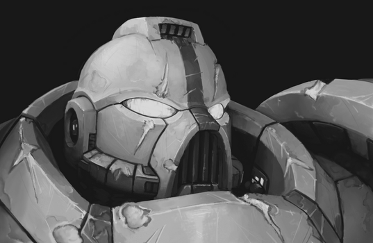 Space Marine Overpaintv2 by Zer0Frost