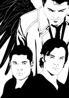 SPN - Team Free Will by Kumagorochan