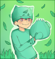 Color Challenge: Green 'BULBASAUR' by Misaka-Chan