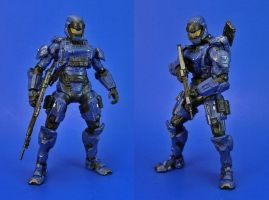 Halo 4 - Spartan Soldier Helmet Redesign by Lalam24