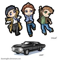 Supernatural: Cell Charms by dauntingfire