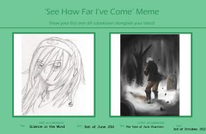 See how far I've come MEME by ThroughMyThoughts